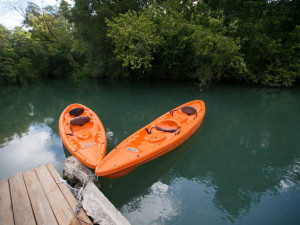 Kayaking at Geronimo Creek Retreat.
