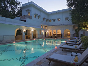 Outdoor pool at Samode Bagh.