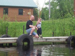 Fishing at Birch Island Resort.