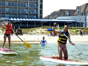 Beach activities at Virginia Beach Resort Hotel.