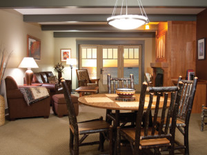 Guest living room at Tamarack Lodge.