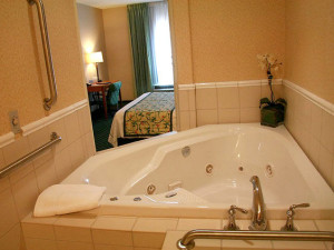King Spa Suite at Fairfield Inn & Suites by Marriott Toledo North.