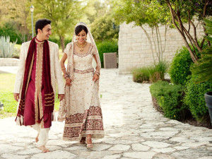 Wedding couple at Lakeway Resort and Spa.