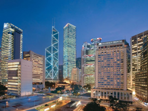 Exterior view of Mandarin Oriental Hong Kong.