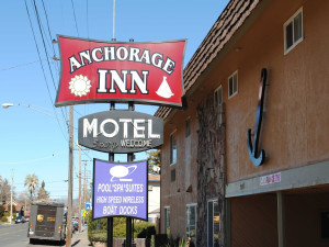Exterior view of Anchorage Inn.