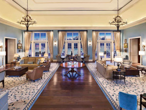 Lounge at Salamander Resort & Spa.