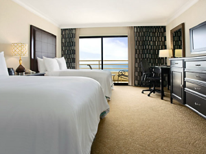 Guest Room at The Waterfront Beach Resort