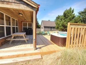 Rental exterior at Shorepine Vacation Rentals.