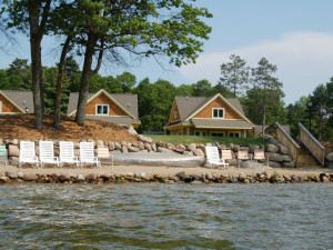 Lakeside cabins at Kavanaugh's Sylvan Lake Resort.