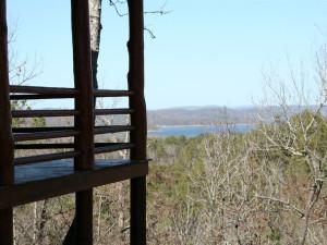 Lake view at Lake Mountain Cabins.