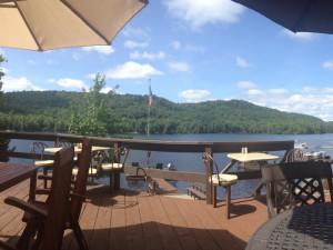 Deck view at Big Moose Inn.