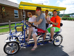 Four person bike at Yogi Bear's Jellystone Park Warrens.