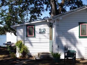 Cabin exterior at Linger Longer Resort.