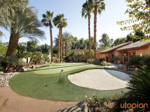 Rental putting course at Utopian Palm Springs Vacation Homes.