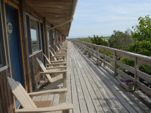 Deck view at Ocean Vista Resort.