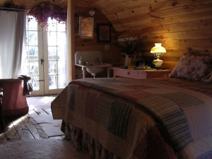 Guest room at Whiteley Creek Homestead B & B.