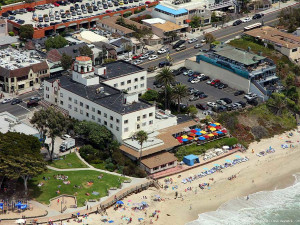 Aerial view of Hotel Laguna.