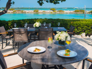 Dining at Hawks Cay Resort.