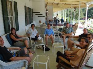 Group meeting at Winter Clove Inn.