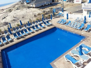 Outdoor pool at The White Sands Oceanfront Resort & Spa.