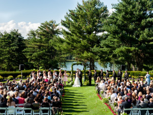 Outdoor wedding at Toftrees Golf Resort and Conference Center.