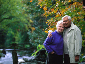 Couple at Wyndham Vacation Resorts Shawnee Village.