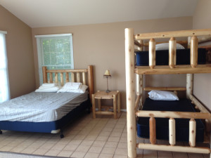 Guest bedroom at Inn on Lac Labelle.