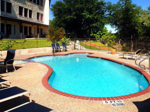 Outdoor pool at Inn on Barons Creek.