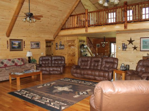 Lodge living room at Saddleback Lodge.