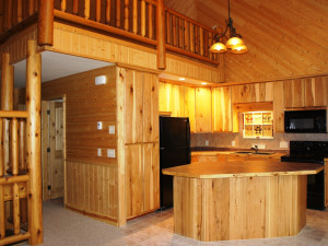 Family Log Retreat kitchen at Hollywood's Resort.