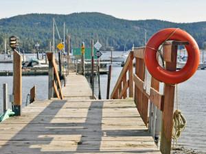 The dock at Sooke Harbour Resort & Marina.