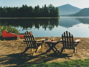 Lake view at Lake Placid Vacation Homes.