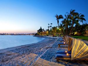 Resort beach at Evans Hotels.