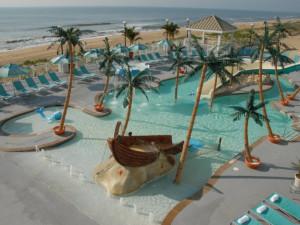 Children's pool at Hilton Suites Ocean City Oceanfront.