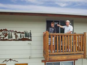 Balcony at Alpine Trail Ridge Inn.