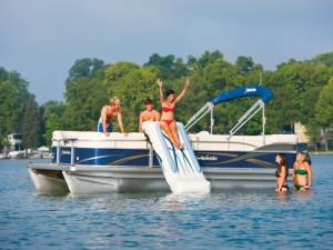 Water fun at Popp's Resort.