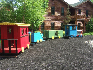 Kids play area at The Lodges at Cresthaven on Lake George.