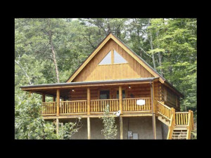 Cabin exterior at Eden Crest Vacation Rentals, Inc. - Quittin Time.