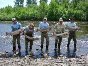 Fishing at Deep Creek Fishing Club.