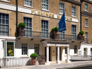 Exterior view of Flemings Mayfair Hotel.