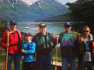 Family at Trail Lake Lodge.