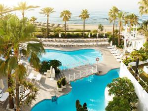 Outdoor pool at Hotel Puente Romano.