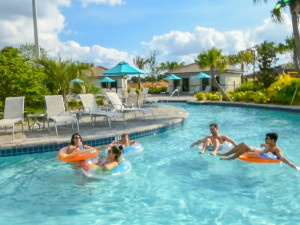 Rental pool at Tropical Escape Vacation Homes.
