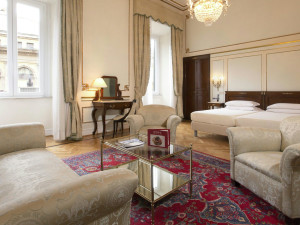 Guest suite at Hotel Quirinale.