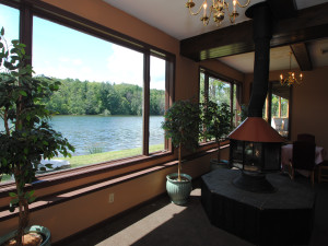 Lake view at Black Swan Inn.