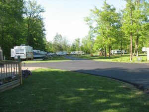 RV resort at Appeldoorn's Sunset Bay Resort.