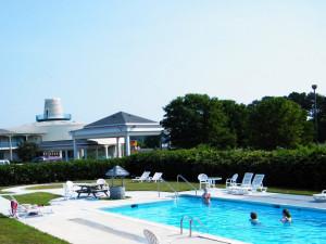 Pool Area at Sunset Beach Inn