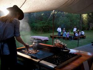 BBQ at Averill's Flathead Lake Lodge.
