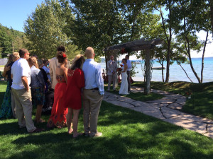 Wedding at Chimney Corners Resort.