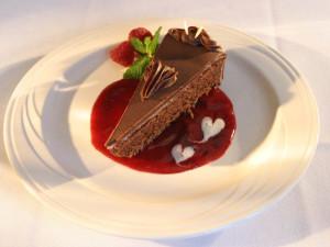 Dessert at Geneva on the Lake.
